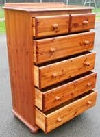 Tall Pine Chest of Drawers -SOLD